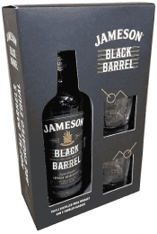 JAMESON BLACK BARREL 700ml ΜΕ 2 BRANDED ΠΟΤΗΡΙΑ
